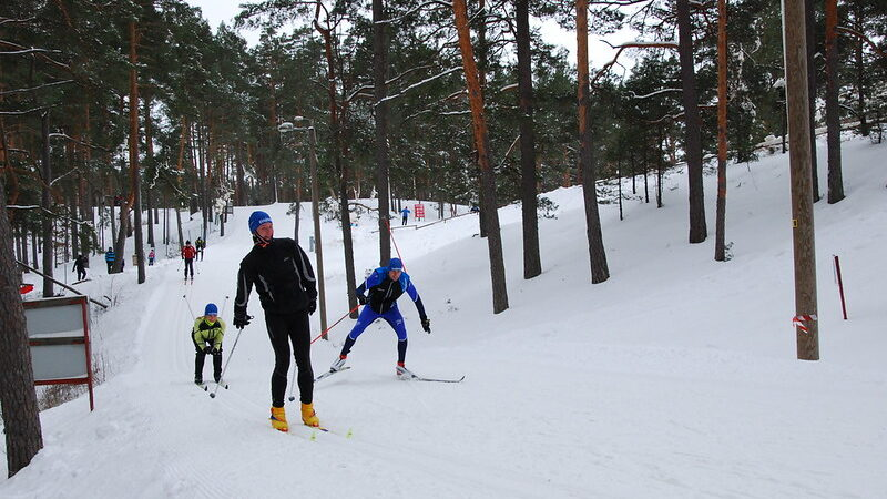 Skiing in Jõulumäe Recreation Centre